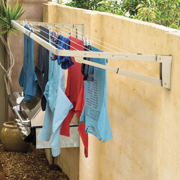 Hills Supa Fold Compact Wall Mounted Washing Line On Lines